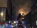 Škola v Glasgowe v plameňoch: FOTO Slávnu budovu opäť poškodil oheň