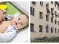 Hrôza v Prievidzi: FOTO Batoľa vypadlo z okna bytu, rodičia boli opití, stal sa však zázrak