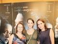 Tehotná Gabriela Marcinková na premiére filmu Dôverný nepriateľ. Tehotenské krivky už viac nedokáže skrývať.