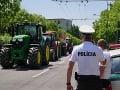 Protestná jazda farmárov z východu v Bratislave.