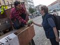 Na snímke farmári na pochode Za slušné Slovensko