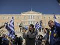 FOTO Protesty v Aténach pokračujú: Macedónsko je iba grécke, v Solúne musela zasahovať polícia