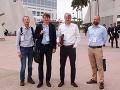 Robert Mistrík s kolegami na pracovnej ceste v americkom San Diego, 2018.