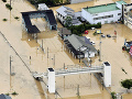 Povodne zasiahli juhozápadné časti Japonska