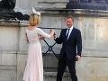 Guy Pelly s manželkou na krste princa Louisa.