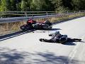 Nehoda na VIDEU: Motorkár (38) nevytočil zákrutu na Pezinskej Babe, ratoval ho vrtuľník