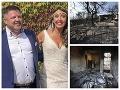 Hrozný osud novomanželov v gréckom pekle: VIDEO Oheň zmenil letovisko na mesačnú krajinu