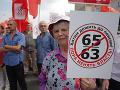 FOTO Protesty neobišli ani Rusko: Občanom sa nepáči návrh dôchodkovej reformy