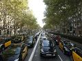 VIDEO Dopravný kolaps je aj v Španielsku: Obrovský štrajk taxikárov, toto je ich dôvod