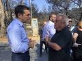 FOTO Grécky premiér Tsipras navštívil oblasť najviac postihnutú požiarmi