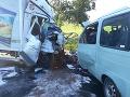 PRÁVE TERAZ Tragická nehoda kamióna a dodávky pri Prešove, hlásia tri obete