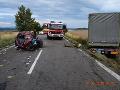 Tragická nehoda pri Bánovciach: Desivé FOTO po čelnej zrážke s nákladiakom, ženy nemali žiadnu šancu
