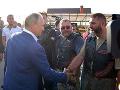 Putin na stretnutí Nočných vlkov