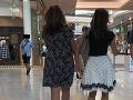 Natašu Nikitinovú naša čitateľka zachytila v nákupnom centre na nábreží Dunaja vo štvrtok v poobedných hodinách.