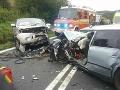 Čelná zrážka áut pri Svidníku: Sedem ľudí malo šťastie v nešťastí