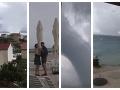 VIDEO, z ktorého vám naskočia zimomriavky: Čierňava nad Chorvátskom a obrovské vodné smršte!
