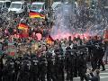 Mohutné demonštrácie v Nemecku nekončia: V Chemnitzi utrpelo zranenia najmenej 9 ľudí