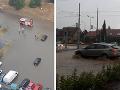 Západné Slovensko pod hnevom počasia: VIDEO Hrozivé búrky udreli, Bratislava znovu zaplavená