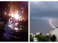 Slovensko bičujú silné búrky: VIDEO Prírodný živel zapálil strechu rodinného domu, platí výstraha!