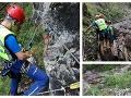 Škaredý pád Slovenky (57): FOTO Záchranári ju našli tesne pod vodopádom, nezvládla strmý úsek