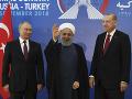 Stretnutie mocných v Ankare: Erdogan, Rúhání a Putin na jednom mieste