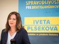 Kandidátka na primátorku mesta Bratislava Iveta Plšeková