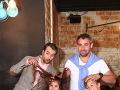 Vlado Kobielsky a Filip Tůma s detskými hercami Laurou Gavaldovou a Marošom Banasom.