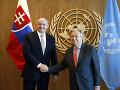 Kiska sa stretol s tajomníkom OSN: Pochvalné slová za vydarený prejav