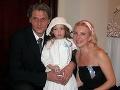 Eva Černá s dnes už exmanželom Rasťom a malou Lindou v roku 2004