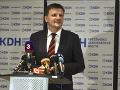 KDH v druhom kole volieb nikoho nepodporí: Rozhodnutie necháva na svojich voličoch