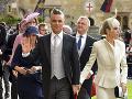 Kráľovskej svadby sa zúčastnil aj spevák Robbie Williams s manželkou Aydou.