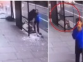 Hrozné VIDEO: Vodič zrovnal zastávku zo zemou, muža v nej takmer zabil, šokujúce konanie šoféra