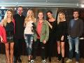 Porota z bratislavského kastingu Miss Universe SR 2018 s moderátorom Matejom Sajfom Cifrom.