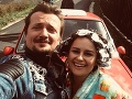 Dano Heriban so svojou seriálovou ženou Peťou Polnišovou.