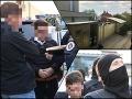 MIMORIADNY ONLINE Policajné razie komanda Lynx po celej Bratislave: Prvé FOTO Kočnera mimo väznice