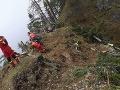 Hasiči zasahujú v Gaderskej doline.