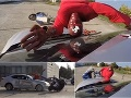 Šokujúce VIDEO zo simulovanej zrážky auta s motorkárom, akcia polície a žilinskej univerzity