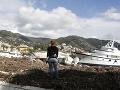Búrka v meste Rapallo napáchala obrovské škody.