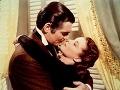 Clark Gable a Vivien Leigh vo filme Odviate vetrom
