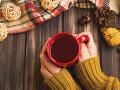 V chladnom počasí si doprajte teplý čaj.