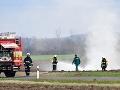 Nešťastná nehoda na poli: Traktorista poškodil potrubie, veľký únik zemného plynu