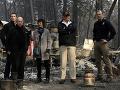 FOTO Trump na návšteve pekla: Najsmrteľnejší lesný požiar storočia ešte stále besnie