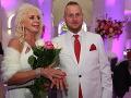 Čerství novomanželia Martin Jakubec a Božanka.
