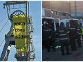 FOTO Na ťažobnú vežu v Novákoch vyliezlo 12 aktivistov Greenpeace: Akčný protest, zasahovala polícia