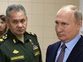 Ruský minister obrany Sergej Šojgu a Vladimir Putin