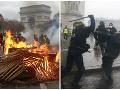 Paríž sa zmenil na bojovú zónu: VIDEO Hlásia takmer stovku zranených, demonštranti sa utrhli z reťaze