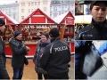 Polícia na vianočných trhoch.