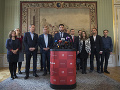 Primátor hlavného mesta SR Bratislava Matúš Vallo so starostami a starostkami mestských častí