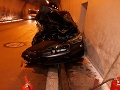 VIDEO Vianočný zázrak pri tuneli Bôrik: Auto vyletelo do vzduchu, kaskadérsky kúsok ako z filmu