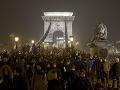 Proti vláde a prezidentovi protestovali v Budapešti tisíce Maďarov
